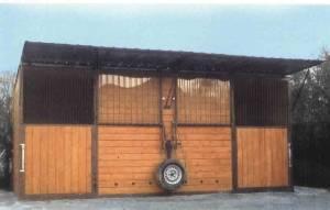 mobile Pferdeaussenbox 6 x 3 x 2,7m